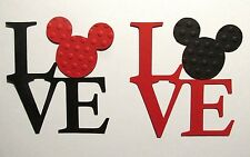 "8-12 VALENTINE ""LOVE"" MiCKEY Mouse Die cuts Embellishments Paper piecing"
