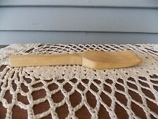 Vintage Small Wooden Butter Paddle Spatula Primitive