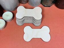 WOODEN DOG BONE Shapes 9.2cm (x10) laser cut wood cutouts crafts blank shape