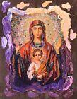 "Virgin Mary 6""x 5"", Mary, Saint, Unique Gift, Original, Hand made, Antanenka"