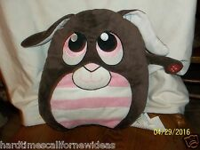 """Mushabelly Adorable Wedgies Brown Bunny Rabbit Plush With Sounds Jay At Play 12"""""""