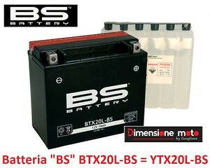 Batteria BS BTX20L-BS = YTX20L-BS per Harley Davidson FXH 1340 Electra Glide
