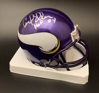 Carl Eller SIGNED Minnesota Vikings Mini Helmet + HOF 04 PSA/DNA AUTOGRAPHED
