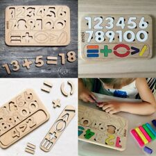 Wood Wooden Numbers Set Puzzle-Sorter Natural Eco Toy Large Gift Holiday