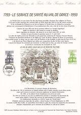 Document philatélique 30-93 1er jour 1993 Service de Santé au Val de Grace