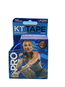 KT Tape PRO Blue Crystals Limited Edition  20 Pre-cut 10 inch Strips