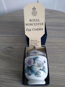 Royal Worcester Egg Coddler Woodland Pattern with Original Box