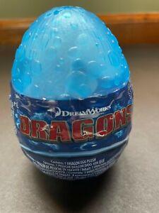 "Dreamworks Dragons Light Fury with Blue Eyes 3"" Plush Light Blue Egg New"