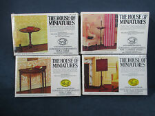 House of Miniatures Dollhouse Furniture Kits Table Candle Stand Chippendale 4pcs