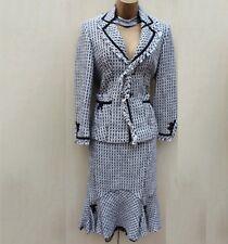 Karen Millen Fit Flare Classic 40's Style Jacket Skirt Suit Dress up UK 12 40 EU