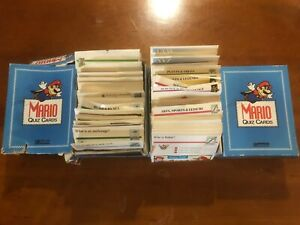 LOT 2 Nintendo Mario Quiz Cards With Box A-Z Lots Of Quiz Cards