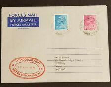 1974 Nepal England British Gurkhas Headquarters Hong Kong Franking Airmail Cover