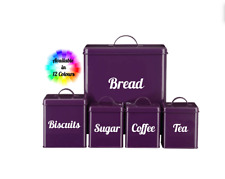 Tea Coffee Sugar Bread Biscuits Storage Jar Canister Vinyl Stickers Kitchen Set