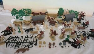 MARX/CTS Western Wagon Train Playset, 54MM Toy Soldiers - 168 pieces