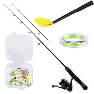 Goture Ice Fishing Rod Reel Combo Ultralight Rod Fishing Line Ice Jigs Scooper