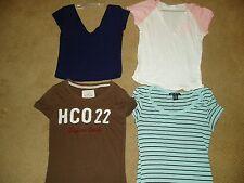 "Girl's, lot of 4, ""BRANDNAME SHORT-SLEEVE SHIRTS"", size 12/14, Hollister, Kohl's"