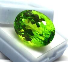 AAA Quality Green Peridot Natural  Loose Gemstone Oval Shape  43 CT Certified
