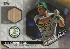 Jose Canseco 2018 Topps Series 2 Game Used Bat Instant Impact /100 A's