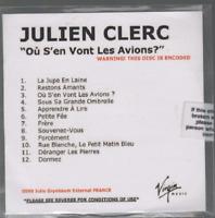 Julien Clerc Où S'en Vont Les Avions ? Cd Promo