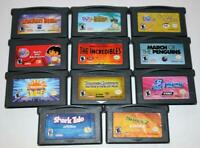 LOT OF 11 NINTENDO GAMEBOY ADVANCE GBA GAMES DORA ROCKET POWER INCREDIBLES