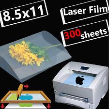 "8.5"" x 11"",300 sheets,Transparency Film Paper LASER PRINTER Silk Screen Printing"