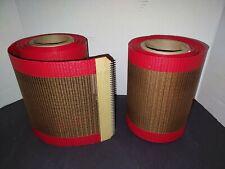 Heat Resistant Ptfe Teflon Conveyer Belts Open Mesh Tunnel Dryer New 2 Rolls