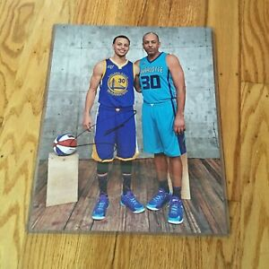 Stephen Curry Signed 11x14 Photo With Dell Warriors Autographed