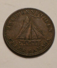 1833 Half Penny Token of UPPER CANADA nice FULL DETAIL To Facilitate Trade
