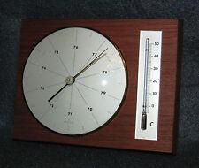 Moco Wetterstation Teak funktionsfähig 60/70er Jahre