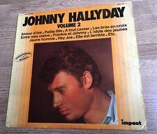 LP 33 tours  Johnny Hallyday Enregistrements originaux volume 2 Impact 6886 141