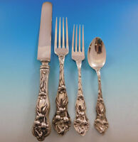 Lily by Watson Sterling Silver Flatware Set Service 24 pieces No mono Dinner