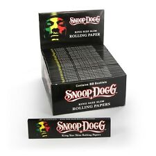 1 x Snoop Dogg King Size Slim Rolling Paper - Thin Paper Like Silver - Hip Hop -