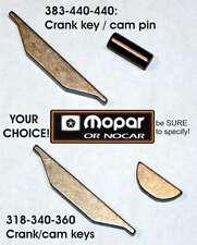 NOS Mopar 318-340-360-383-440 Cam & Crank KEYS/PIN SET Cuda Charger Satellite GT