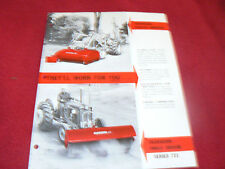 Ford Tractor Dearborn Angle Broom Series 721 Dealer's Brochure AD-8381