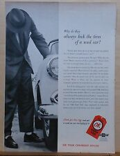 1955 magazine ad for Chevrolet - OK Used Cars, Why kick tires of used cars?