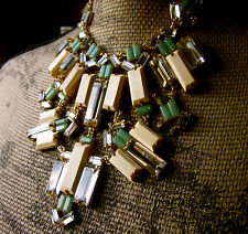 SET WITH EARRINGS! KATE SPADE NEW YORK CENTRO TILES WOOD CRYSTAL NECKLACE