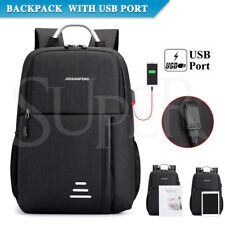 Men Women Anti-theft Backpack Bag School Travel Laptop Bags USB Charging Port