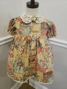Vintage Toddler Dress Shabby Chic/Cotton Lace Size 3t