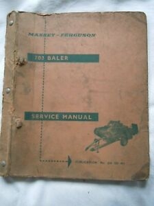 @Massey Ferguson 703 Baler Service Manual@