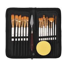 15X Artist Paint Brushes Set Acrylic Oil Watercolour Painting Craft Art Kit F2S7