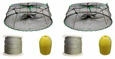 2 Pack of SPORTS Tower Style Stainless Steel Prawn Trap Combo (CT77+PAQ1)X2