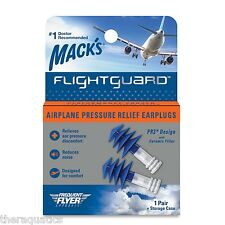 Mack's Flightguard Airplane Pressure Relief Earplugs Ear Discomfort Fly Noise 17