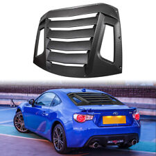 Rear Window Louvers + Hardware Kit Accessory For Subaru BRZ Toyota 86 Scion FR-S