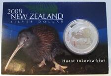1 Unze oz Silbermünze Haast Tokokea Kiwi 2008 Münze Neuseeland Silver Dollar