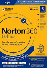 More details for norton 360 deluxe 2021 5 devices 1 year + vpn - internet security uk/eu- emailed
