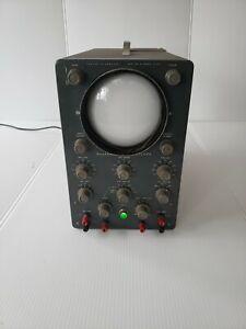 Vintage Heathkit Oscilloscope 1950's , Steam Punk , Man Cave , Nice Patina