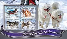 Togo 2016 estampillada sin montar o nunca montada trineo trineo de perros 4v m/s Alaska Malamute Husky Chinook sellos de perro