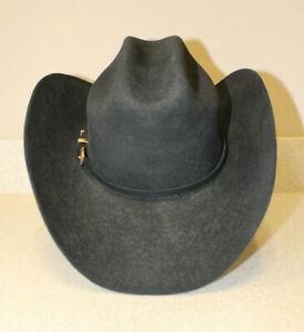 Black Justin Cowboy Hat, Wool, size 7 1/8