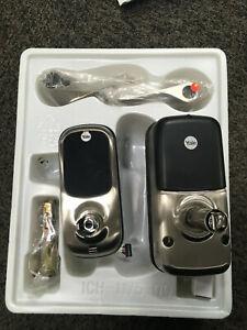 SPT3300021 Yale YRL220ZW619 Keyless Leverset w/ Touchscreen & ZWave Satin Nickel