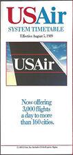 USAir system timetable 8/5/89 Buy 2 Get 1 Free